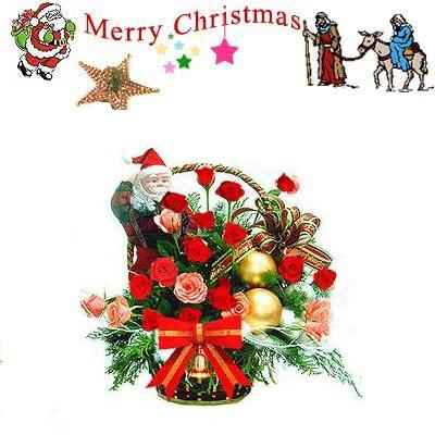 Christmas Rose Basket